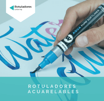 rotuladores acuarelables para hacer lettering